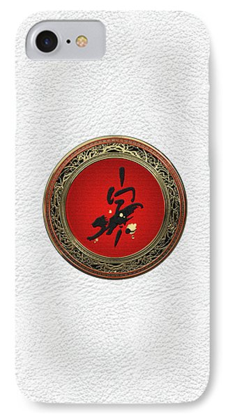 Chinese Zodiac - Year Of The Tiger On White Leather IPhone Case