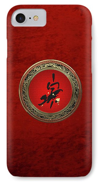 Chinese Zodiac - Year Of The Tiger On Red Velvet IPhone Case