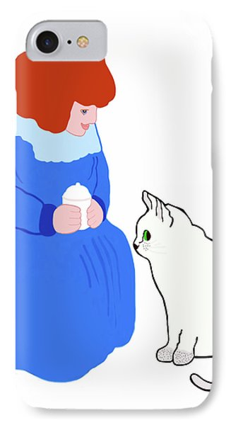 IPhone Case featuring the painting  Pussycat, Pussycat By Mother Goose by Marian Cates
