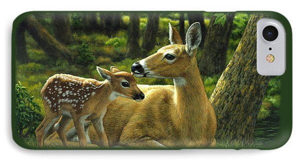 Whitetail Deer - First Spring IPhone 7 Case by Crista Forest