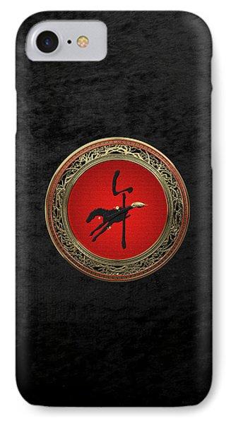 Chinese Zodiac - Year Of The Horse On Black Velvet IPhone Case