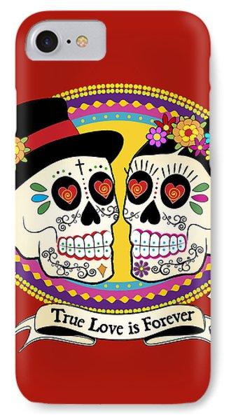 Los Novios Sugar Skulls IPhone 7 Case