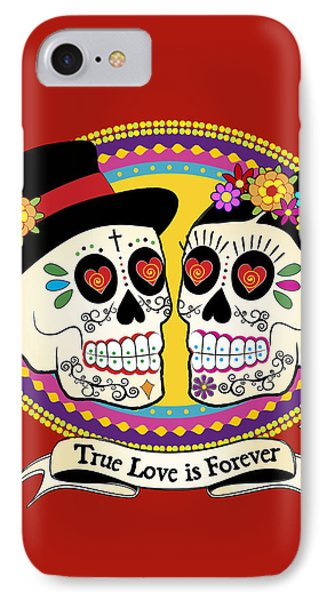 Los Novios Sugar Skulls IPhone Case