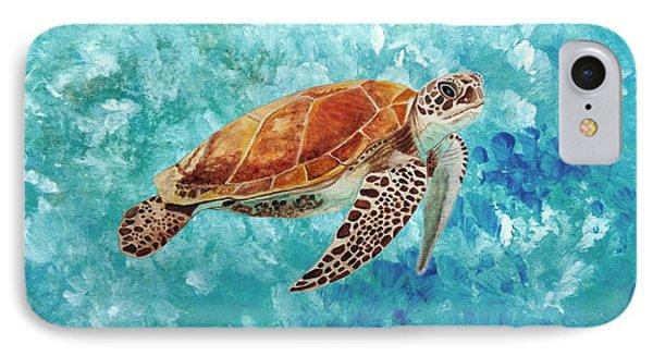 Turtle Swimming IPhone Case