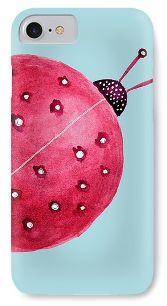 Beautiful Abstract Watercolor Ladybug IPhone Case