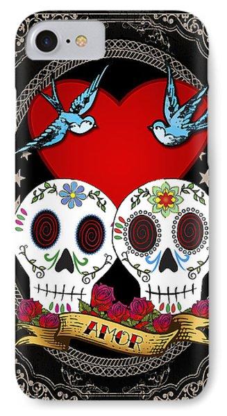 Love Skulls II Phone Case by Tammy Wetzel