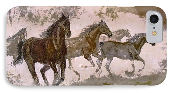 Horse Painting A Dream Of Running Wild IPhone Case