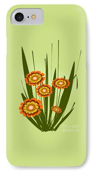 Orange Flowers IPhone Case by Anastasiya Malakhova