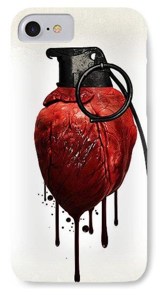 Heart Grenade Phone Case by Nicklas Gustafsson