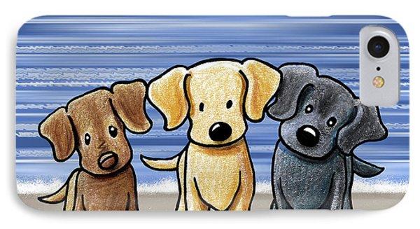 Labrador Beach Trio Phone Case by Kim Niles