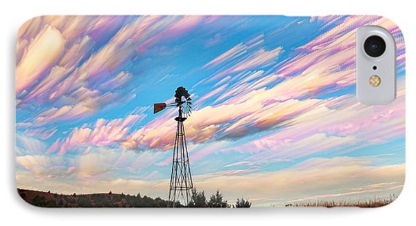 Crazy Wild Windmill IPhone Case by Bill Kesler