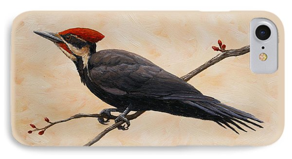 Pileated Woodpecker Phone Case by Crista Forest