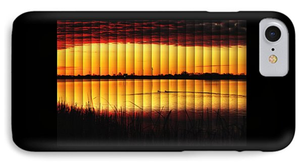 Magnificent Sunrise Swim IPhone Case by Bill Kesler