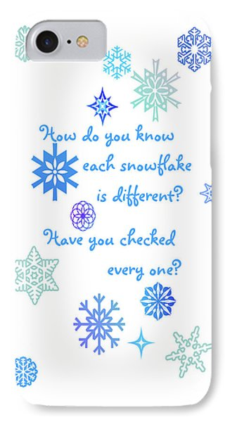 Snowflakes Phone Case by Methune Hively