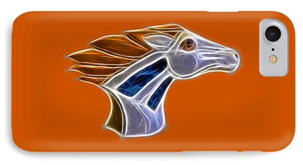 Glowing Bronco Phone Case by Shane Bechler