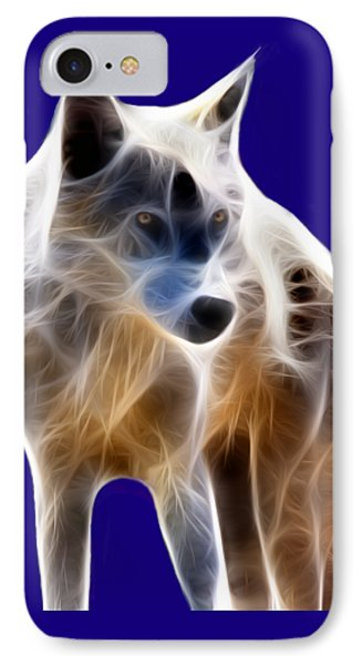 Glowing Wolf Phone Case by Shane Bechler