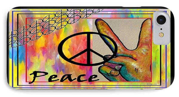 Peace In Every Color Phone Case by Eloise Schneider