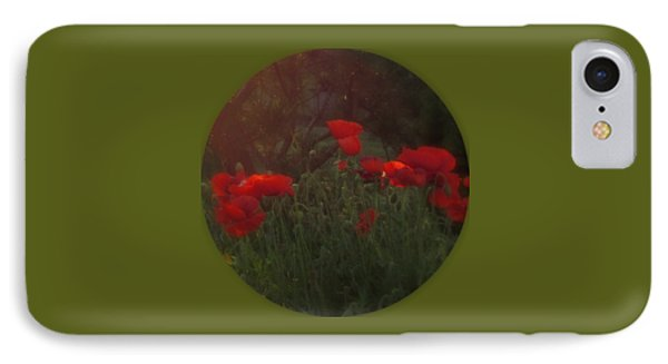 Sunset In The Poppy Garden IPhone Case by Mary Wolf