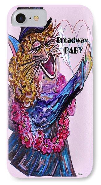 Broadway Baby Cat ... Hello Kitty ... Hello World Phone Case by Eloise Schneider