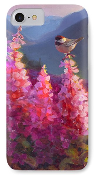 Eagle River Summer Chickadee And Fireweed Alaskan Landscape IPhone 7 Case