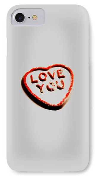 Love You Phone Case by Mark Rogan