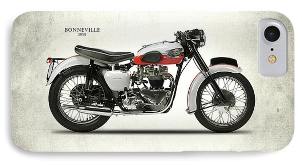 Triumph Bonneville 1959 IPhone 7 Case by Mark Rogan