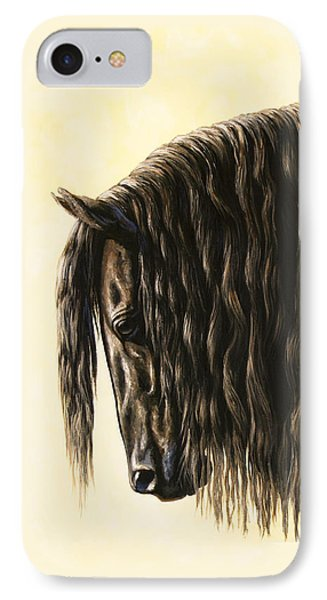 Horse Painting - Friesland Nobility IPhone Case by Crista Forest