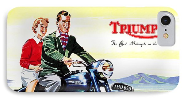 Triumph 1953 IPhone 7 Case by Mark Rogan