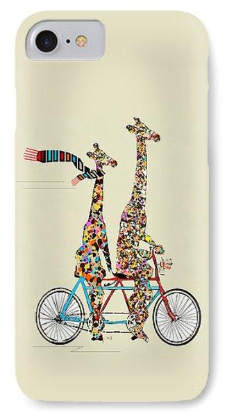 Giraffe Days Lets Tandem IPhone 7 Case by Bri B