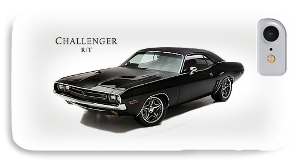 Dodge Challenger Rt IPhone Case by Mark Rogan