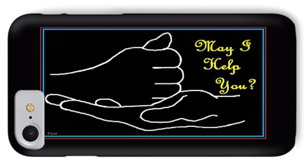 American Sign Language  May I Help You IPhone Case by Eloise Schneider