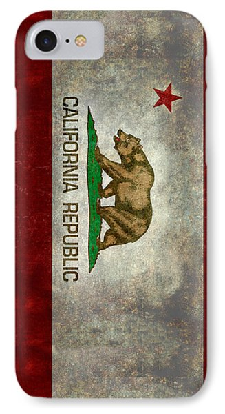 California Republic State Flag Retro Style IPhone 7 Case by Bruce Stanfield