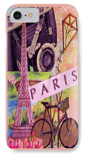 IPhone Case featuring the drawing Paris  by Eloise Schneider
