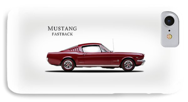 Ford Mustang Fastback 1965 IPhone Case by Mark Rogan