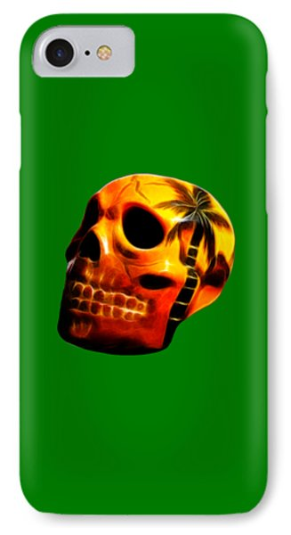 Glowing Skull Phone Case by Shane Bechler