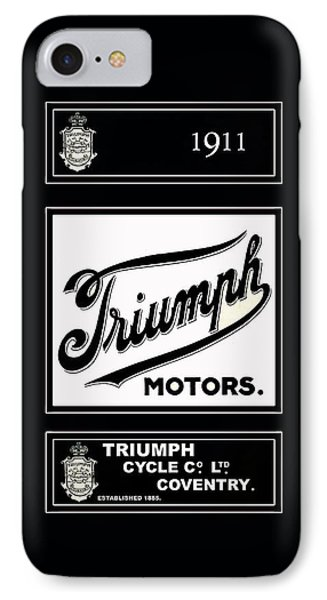 Triumph 1911 IPhone 7 Case by Mark Rogan
