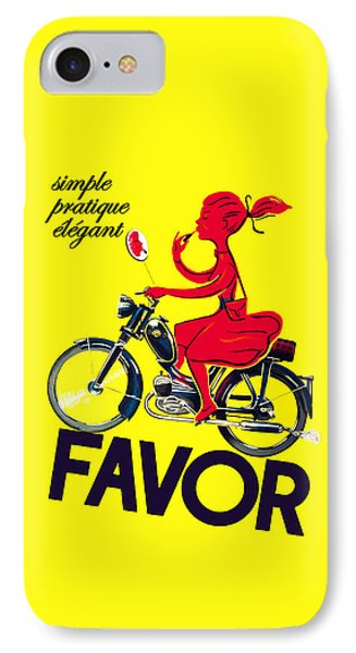 Favor Lipstick 1950 Phone Case by Mark Rogan