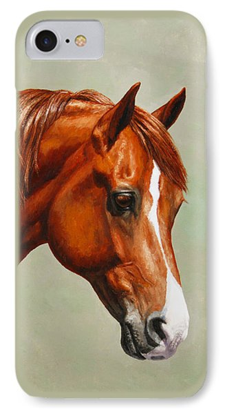 Morgan Horse - Flame IPhone Case