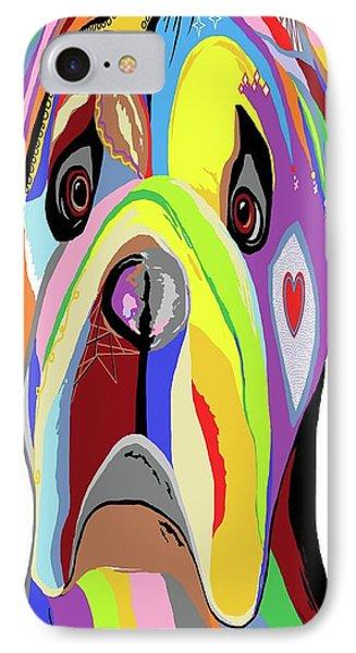 Bulldog Phone Case by Eloise Schneider