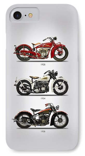 Indian Scout Trio IPhone Case by Mark Rogan