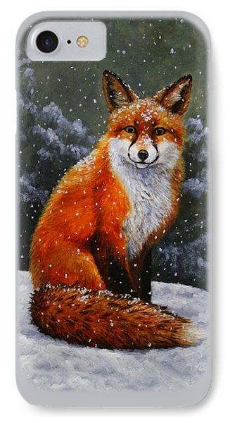 Snow Fox Phone Case by Crista Forest