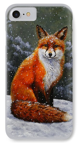 Snow Fox IPhone Case by Crista Forest