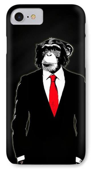 Domesticated Monkey IPhone Case by Nicklas Gustafsson