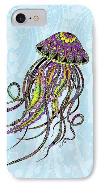 Electric Jellyfish IPhone Case by Tammy Wetzel