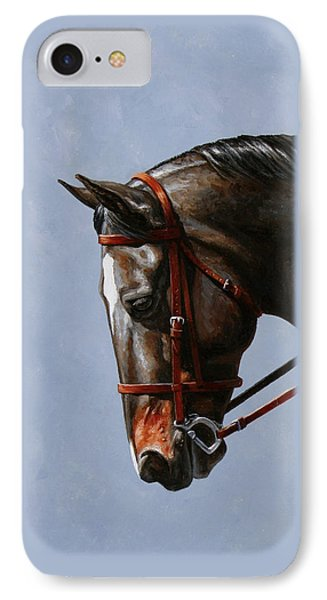 Horse Painting - Discipline Phone Case by Crista Forest