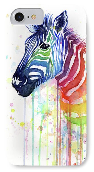 Rainbow Zebra - Ode To Fruit Stripes IPhone Case
