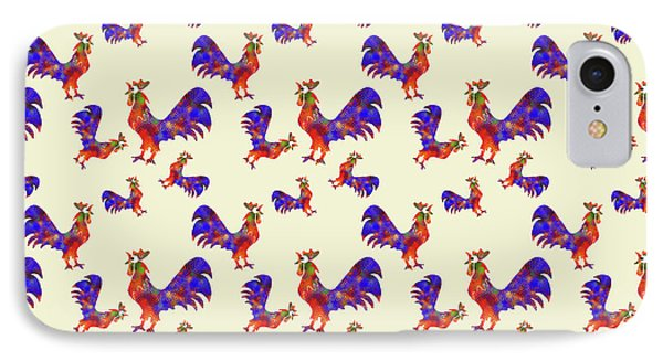 Red Rooster Art Phone Case by Christina Rollo