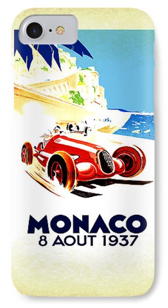 Monaco 1937 IPhone Case by Mark Rogan