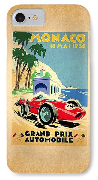 Monaco 1958 IPhone Case by Mark Rogan