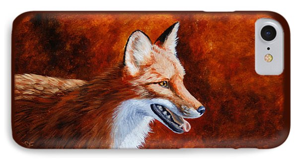Red Fox - A Warm Day Phone Case by Crista Forest